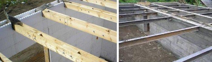 Перекрытия по деревянным или металлическим балкам